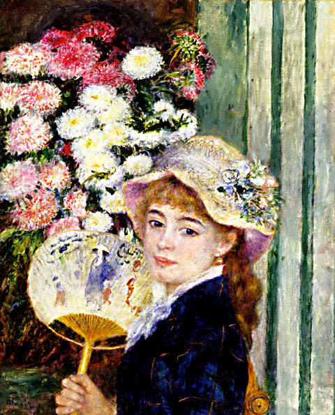 Pierre Auguste Renoir-Girl With A Fan 1881