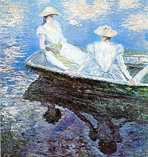 Claude Monet-Girls in a Boat