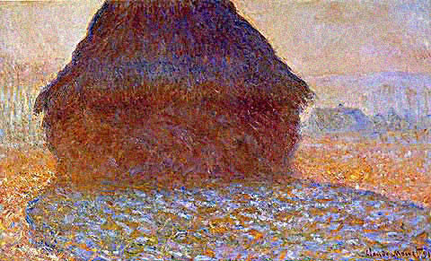 Claude Monet-Grainstack in the Sunlight