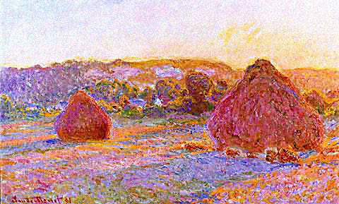 Claude Monet-Grainstacks at the End of the Summer