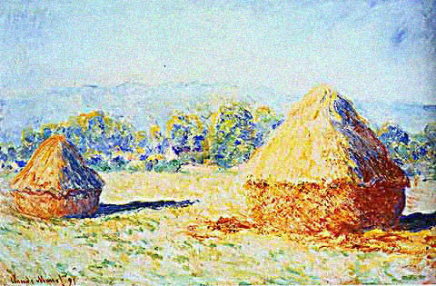 Claude Monet-Grainstacks at the Sunlight