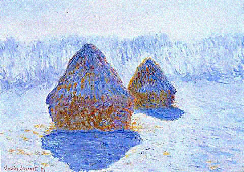 Claude Monet-Grainstacks Winter Effect