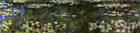 Claude Monet-Green Reflection 1916