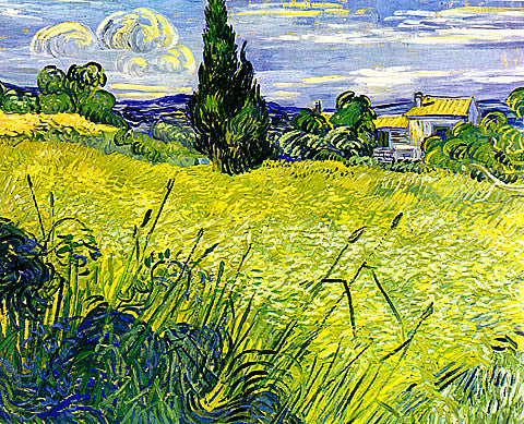 Vincent Van Gogh-Green Wheat Field With Cypress