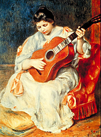 Pierre Auguste Renoir-Guitar Player 1896