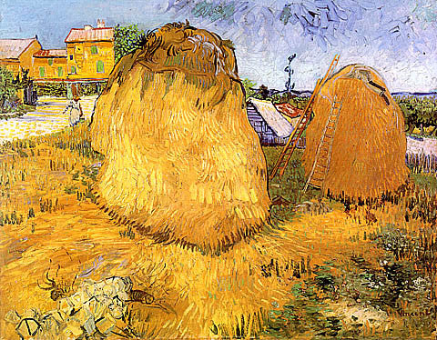 Vincent Van Gogh-Haystacks