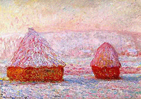 Claude Monet-Haystacks in Snow