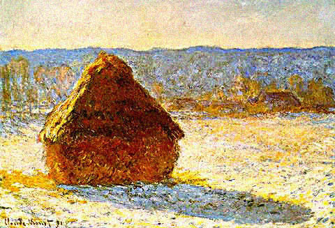 Claude Monet-Haystacks in Snow Sunshine
