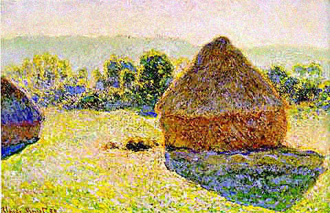 Claude Monet-Haystacks at Noon