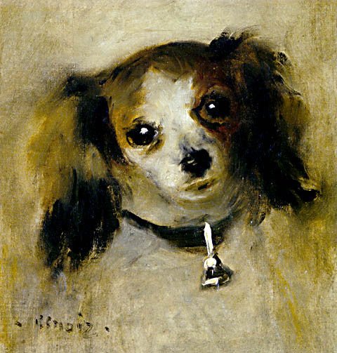 Pierre Auguste Renoir-Head Of A Dog 1870