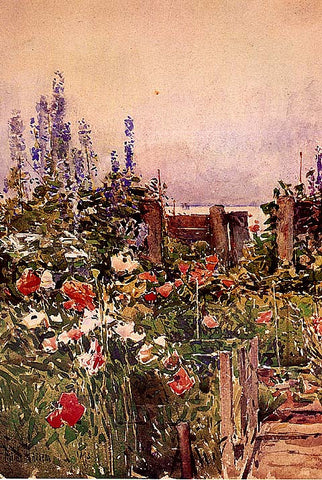 Childe Hassam-Home Of The Hummingbird