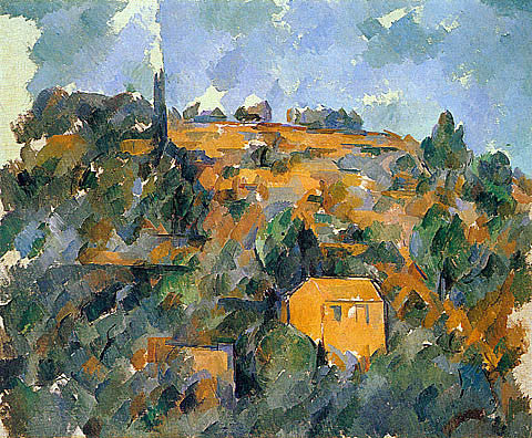 Paul Cezanne-House On A Hill