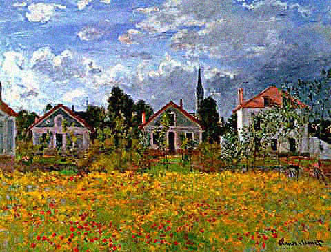 Claude Monet-Houses at Argenteuil