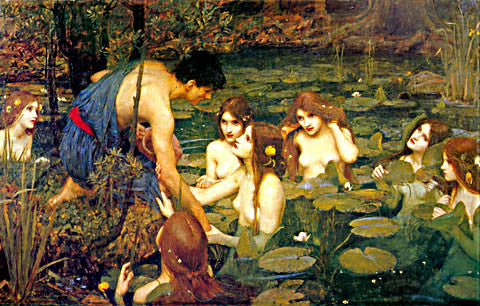 John William Waterhouse-Hylas And The Nymphs