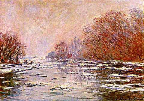 Claude Monet-Ice Floes at Vetheuil
