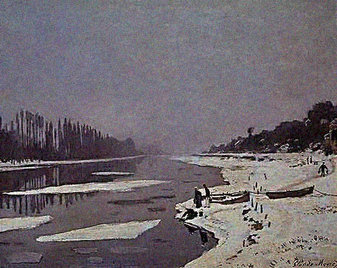 Claude Monet-Ice Foes on the Seine 1867