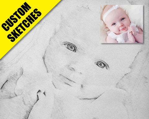 pencil sketch custom sketch-1