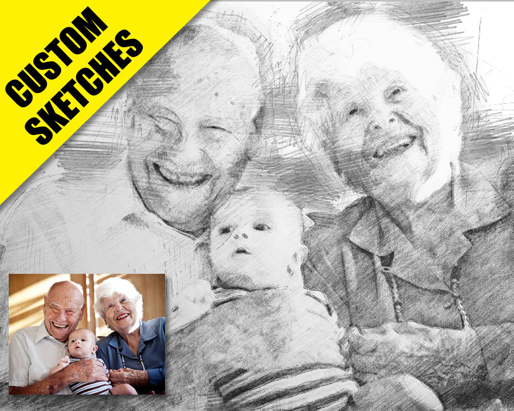grandparents gifts custom sketch-1