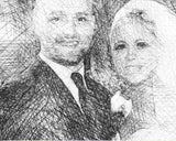 Wedding portrait custom sketch-2