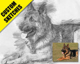 Gift for dog lover custom sketch-1