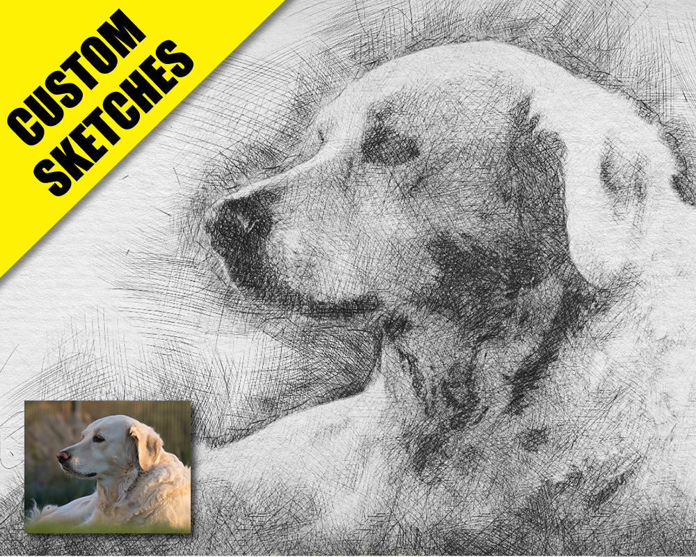 Dog loss gift custom sketch-1