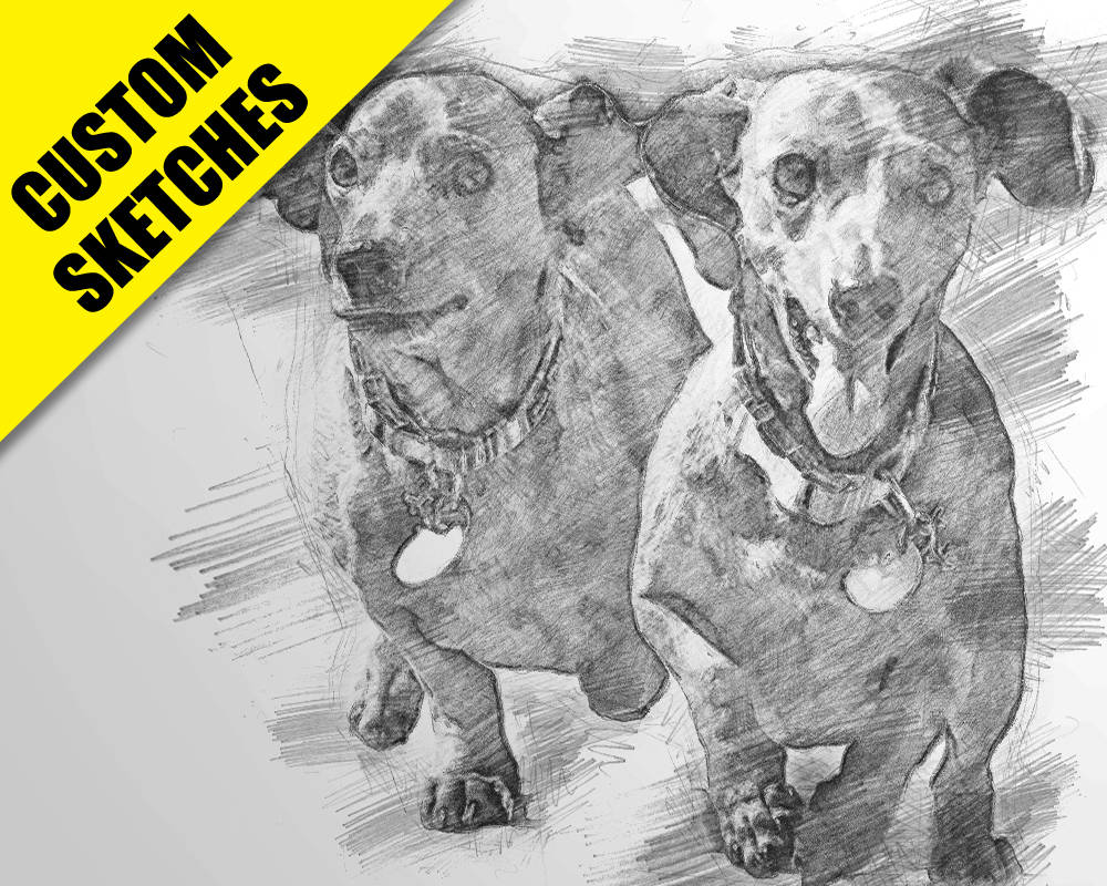 Dog memorial gifts custom sketch-1