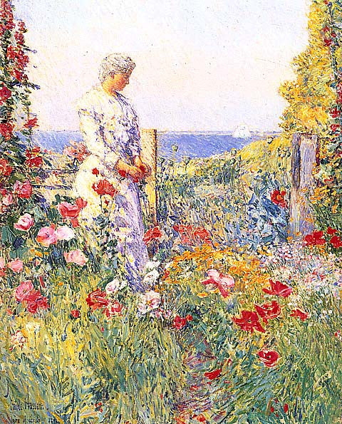 Childe Hassam-In The Garden