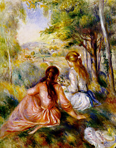 Pierre Auguste Renoir-In The Meadow 1890