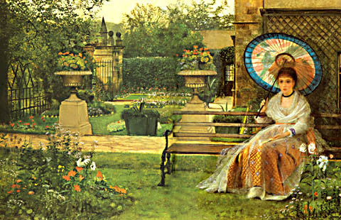 John Atkinson Grimshaw-In The Pleasaunce 1875