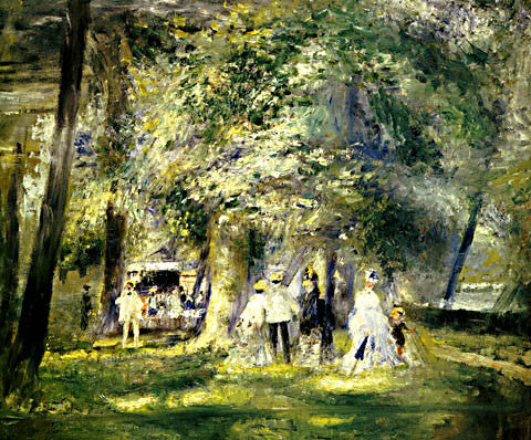 Pierre Auguste Renoir-In The St Cloud Park 1866