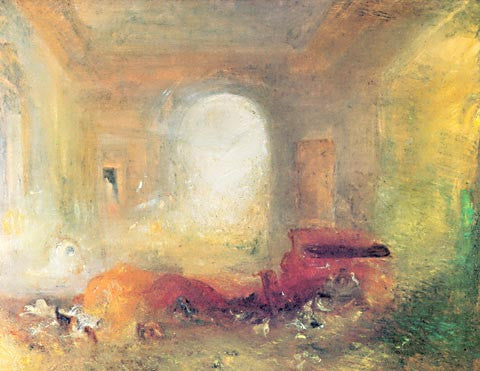 Joseph Mallord William Turner-Interior At Petworth 1837
