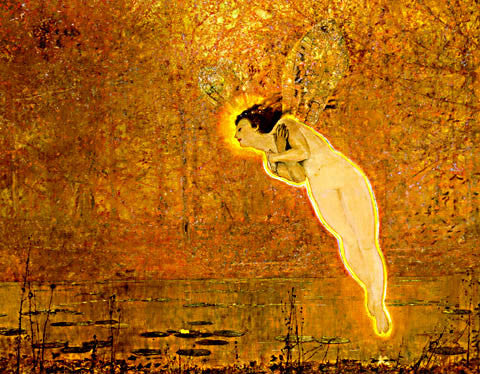 John Atkinson Grimshaw-Iris Spirit Of The Rainbow