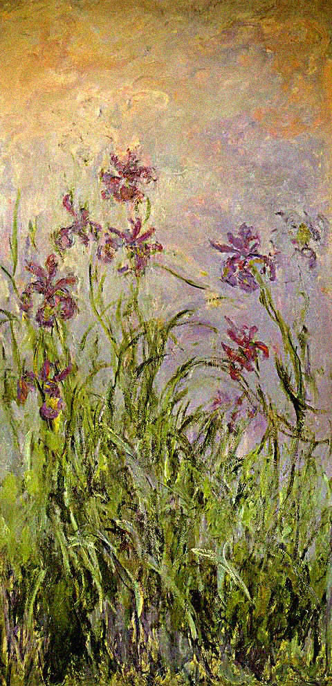 Claude Monet-Iris Mauves
