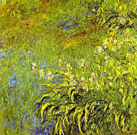 Claude Monet-Irises at the Side of the Pool