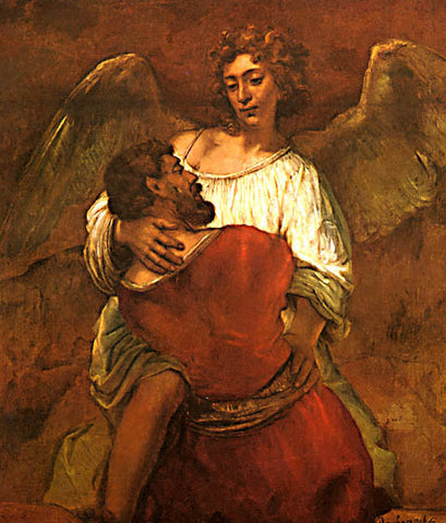 Rembrandt-Jacob Wrestling With The Angel