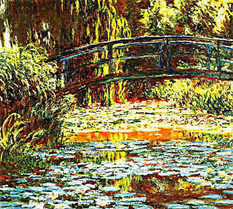 Claude Monet-Japanese Bridge at Giverny