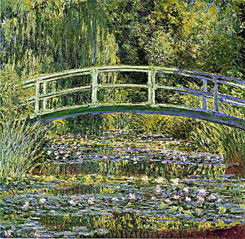 Claude Monet-The Lily Pond and The Japanese Bridge