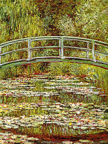 Claude Monet-Japanese Bridge Green Harmony
