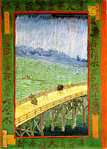Vincent Van Gogh-Japonaiserie Bridge In The Rain