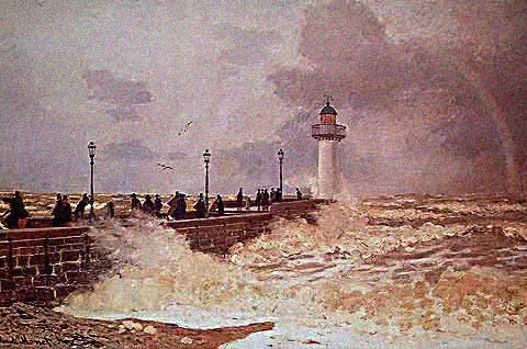 Claude Monet-Jetty of Le Havre