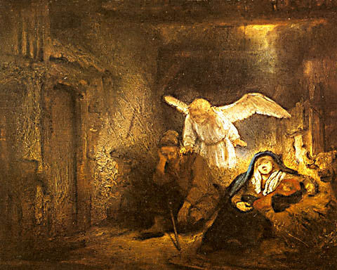 Rembrandt-Josephs Dream In The Stable