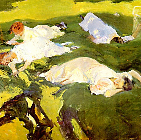 Joaquin Sorolla-The Siesta
