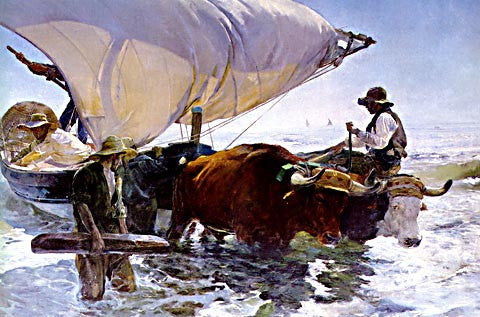 Joaquin Sorolla-The Fishermans Return