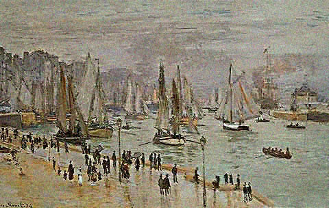 Claude Monet-La Havre Fishing Boats 1874