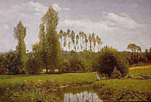 Claude Monet-Landscape at Rouelles 1858