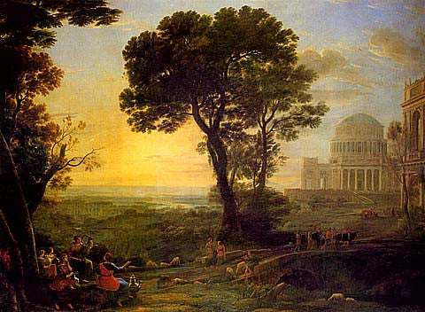 Claude Lorrain-Landscape With A Procession To Delphi