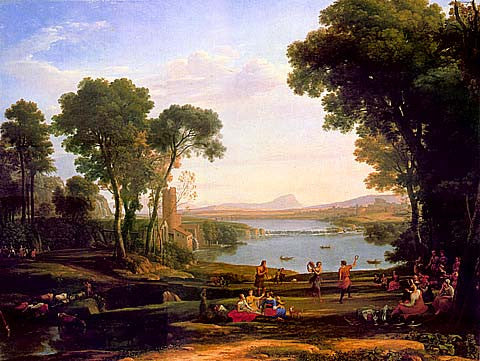 Claude Lorrain-Landscape With Dancing Figures