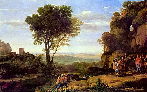 Claude Lorrain-David And The Three Heroes