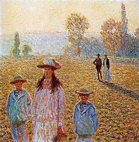 Claude Monet-Landscape with Figures Giverny