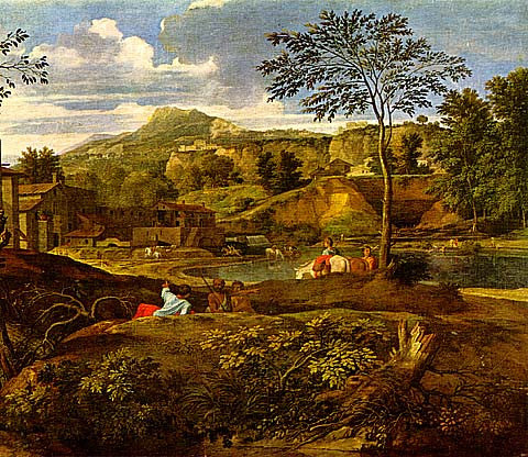 Nicolas Poussin-Landscape With Three Men